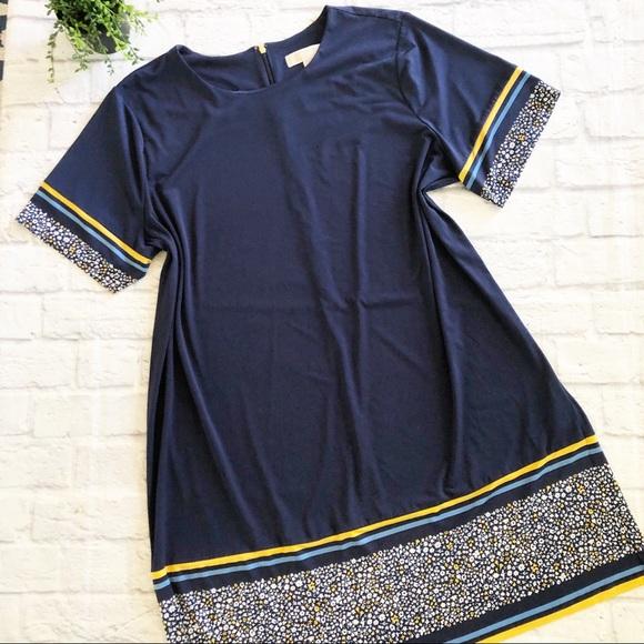 MICHAEL Michael Kors Dresses & Skirts - Michael Kors navy yellow floral short sleeve dress